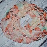 Очень модный фирменный яркий снуд шарф девочке девушке