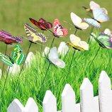 Бабочки декоративные на держателе для сада, украшения