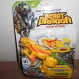 Динозавр трансформер, на листе, в наличии желтый