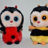 TY Милейшие пчёлка и божья коровка глазастик лупастик . Рост - 14 см