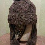 Новая шапка-ушанка на флисе Хенд Мейд
