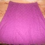 DAVID EMANUEL юбка гипюровая большой размер р 22