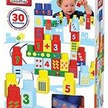 Ecoiffier Конструктор для маленьких на 30 деталей цифры 7709 Abrick 30 building blocks with numbers