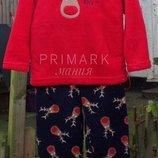 Пушистая флисовая пижама для мальчика 2-6 лет Primark