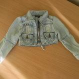 Пиджак джинсовый девочке рост 92-98 см короткий топ D-zine