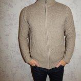 Mark&Spencer Сдержанный мужской свитер, кардиган, кофта на змейке с карманами, фирменный pp S