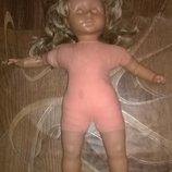 Большая винтажная коллекционная кукла,куколка на реставрацию гдр германия