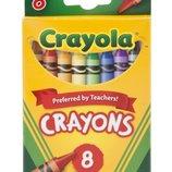 Crayola Восковые карандаши 8 цветов Crayons,8 Count