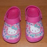 Фирменные кроксы Hello Kitty для девочки 18 см
