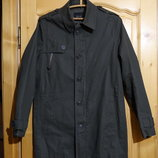 Удлиненная х/б фирменная куртка цвета хаки Zara Man Испания. M. 46 р