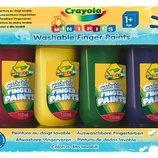 Crayola Смываемые краски для рисования пальцами 4 цвета