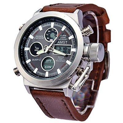 Армейские наручные часы AMST AM 3003 silver