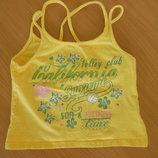 майка футболка 110 см 5 лет желтая зеленая цветы