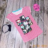 Красивая футболка Primark для девочки 9-10 лет. 134-140 см