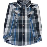 Рубашка в клеточку,черная, серая, синяя,116-122, 4-5-6 лет