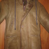 Зимняя куртка-дубленка на мальчика