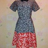 Милое платье рубашка в ромашки