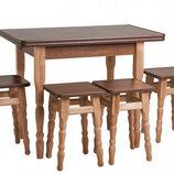 Кухонный Стол Раскладной 4 Табурета Эко Акция