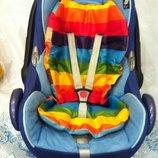 Матрасик вкладыш в детскую коляску, стульчик, автокресло