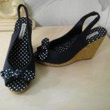 Открытые туфли, эспадрильи, босоножки Аtmosphere р.38 24,5см Испания,оригинал