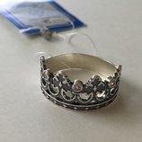 Кольцо серебярное Королевское