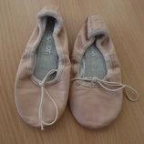 чешки 15 см кожа девочке детские беж обувь для танцев балет