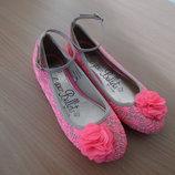 Туфли девочке 34 размер мокасины балетки George Джорж нарядные