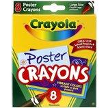 Crayola Большие восковые карандаши 8 цветов Poster Crayons 8 Count
