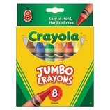 Crayola Большие восковые карандаши 8 цветов Jumbo Big Crayons 8 Assorted Color Set