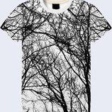 Креативная 3D футболка Ветви деревьев