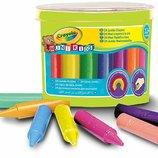 Crayola Цветные карандаши 24 цвета в бочонке для самых маленьких Beginnings Jumbo Crayons 24