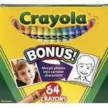 Crayola Цветные восковые карандаши 64 цвета Crayons-64