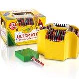 Crayola Восковые карандаши 152 цвета в коробке с точилкой Ultimate Collection Crayons 152-Piece