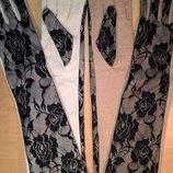 Шикарные длинные теплые перчатки р.М/L