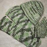 Шарф 2-х метровый, шапка,перчатки