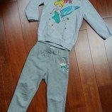Спортивный костюм серый 5-6 лет, спортивки, Childrens Place, толстовка, кофта с капюшоном Disney