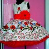 Платья нарядные в украинском стиле 80-158р.
