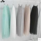 стильная женская юбка фатин