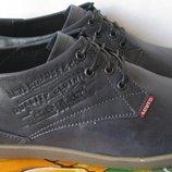 Levi´s супер стильные весенне осенние мужские классические туфли ботинки натуральна кожа Левайс