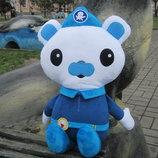 Мягкая игрушка Капитан Медведь Барнаклс из Октонавты ручной работы