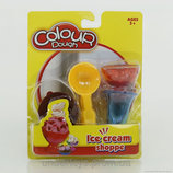 Тесто масса формы для лепки Мороженое набор 4 ел.
