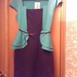 Плаття із баскою.