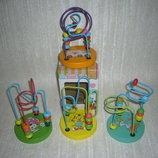 Деревянные игрушки пальчиковый лабиринт, лабиринт на проволоке