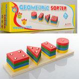 Деревянная игрушка Пирамидка геометрические формы геометрик