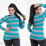 Женский свитер гольф трикотажный длинный в полоску женские свитера кофты джемпер женская туника