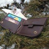 Чоловічий шкіряний гаманець мужской кожаный кошелек Wallet2 ручної роботи, натуральна