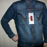 джинсовая куртка мужская и подростковая стильная VIGOOCC р.38,40,42,44,46,48
