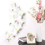 4 Интерьерные наклейки Бабочки 12 шт