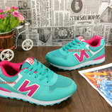 Женские кроссовки в стиле New Balance 574. Мятного цвета, яркие и неотразимые 36-41 рр