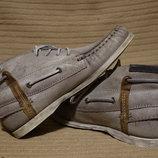 Эффектные молодежные кожаные ботиночки в стиле топсайдеров MJUS Италия